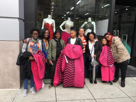 Happy Family Center teens after a day of Prom dress shopping with Shauna