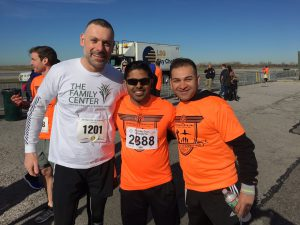 Board Chair Shamoun Afram with Credit Suisse volunteer runners