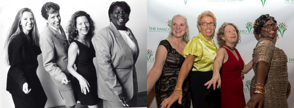 The Family Center's four founders (left to right): Jan Hudis, Barbara Draimin, Amy Shire and Ivy Gamble Cobb