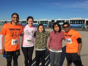 TFC Board member Emily Parapanov, second from left, with TFC Runners